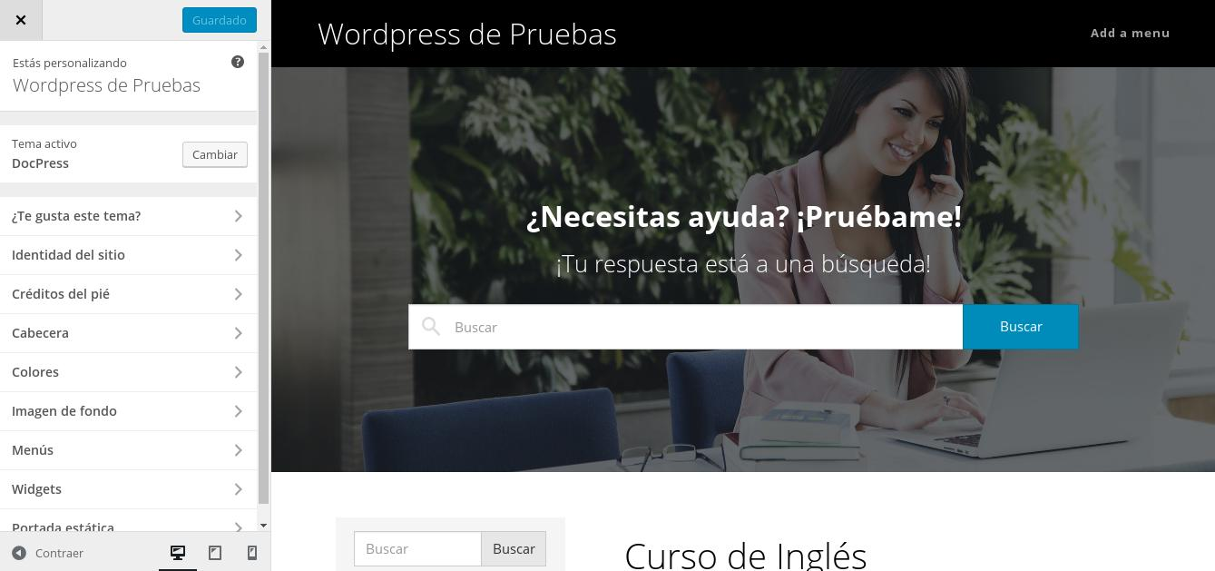 Personalizar tema de WordPress