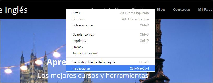Inspeccionar en Chrome