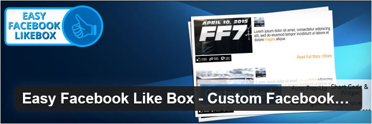 Easy Facebook Likebox plugin