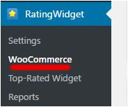 Menú Rating Widget / WooCommerce