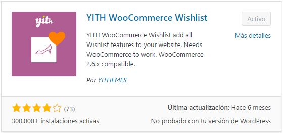 Descargar YITH WooCommerce Wishlist Plugin