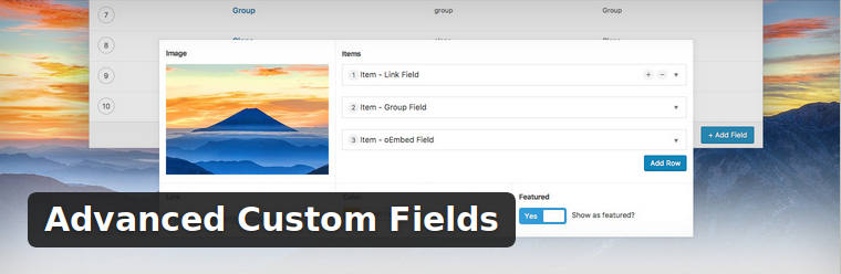 Añadir campos personalizados con Advanced Custom Field