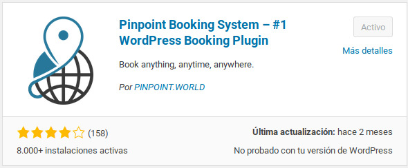 Plugin Pintpoint Booking System